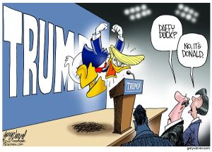 """Presidential candidate, Donald Trump, has been critical of fellow Replubicans including Sen. John McCain. Some voters are curious about his """"daffy"""" behavior."""