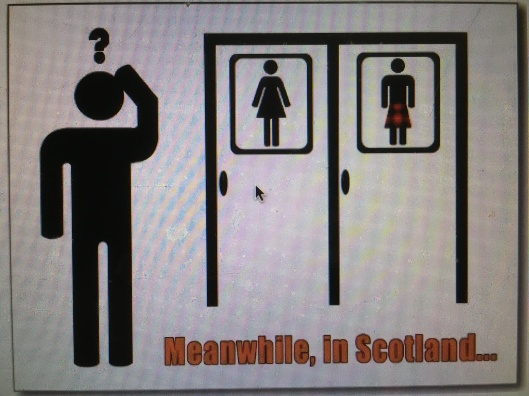 Bathroom Signs In Scotland back to the restroom | sacred cow chips