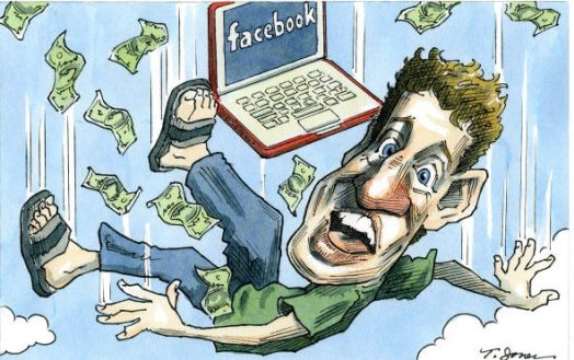 Falling Zuckerberg